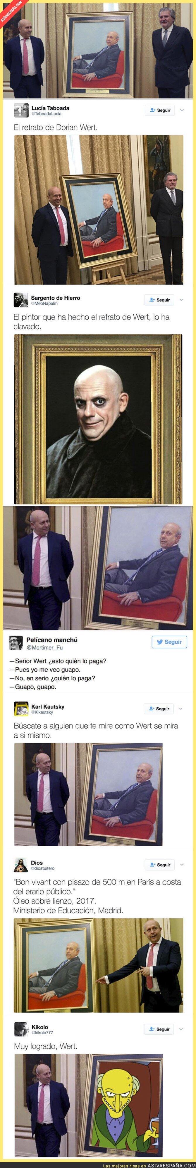 64546 - Este retrato de Wert ha costado 20.000€