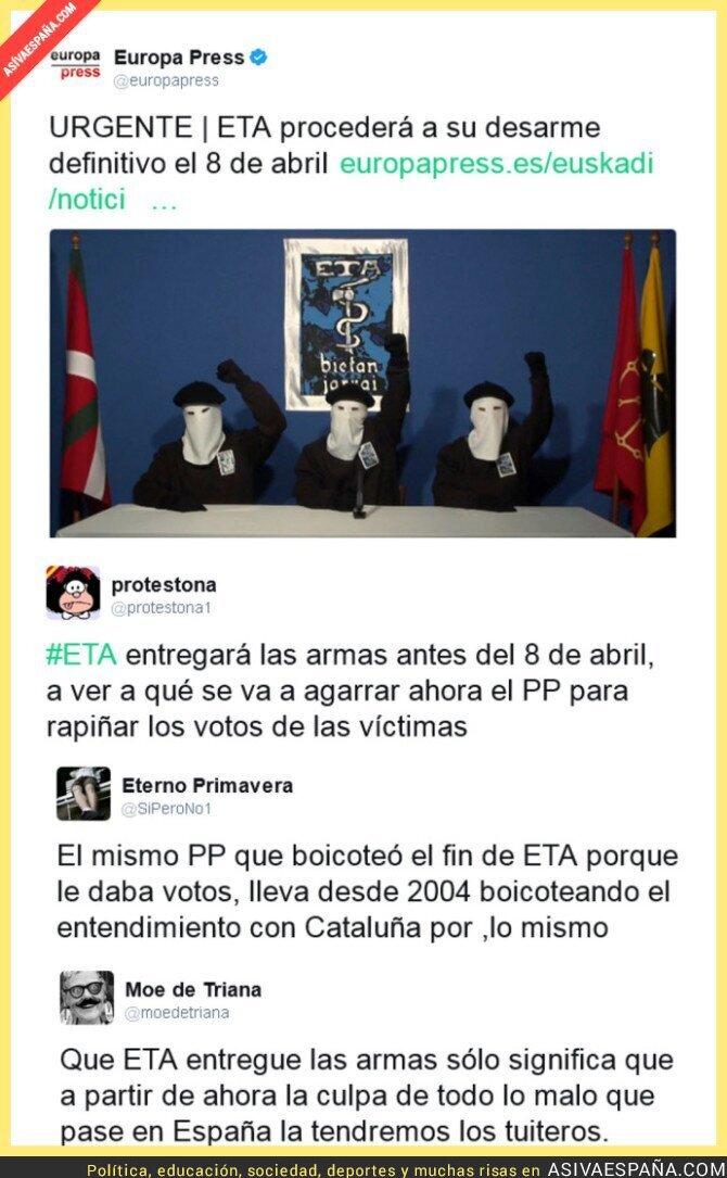 64696 - ETA anuncia su desarme definitivo y Twitter reacciona