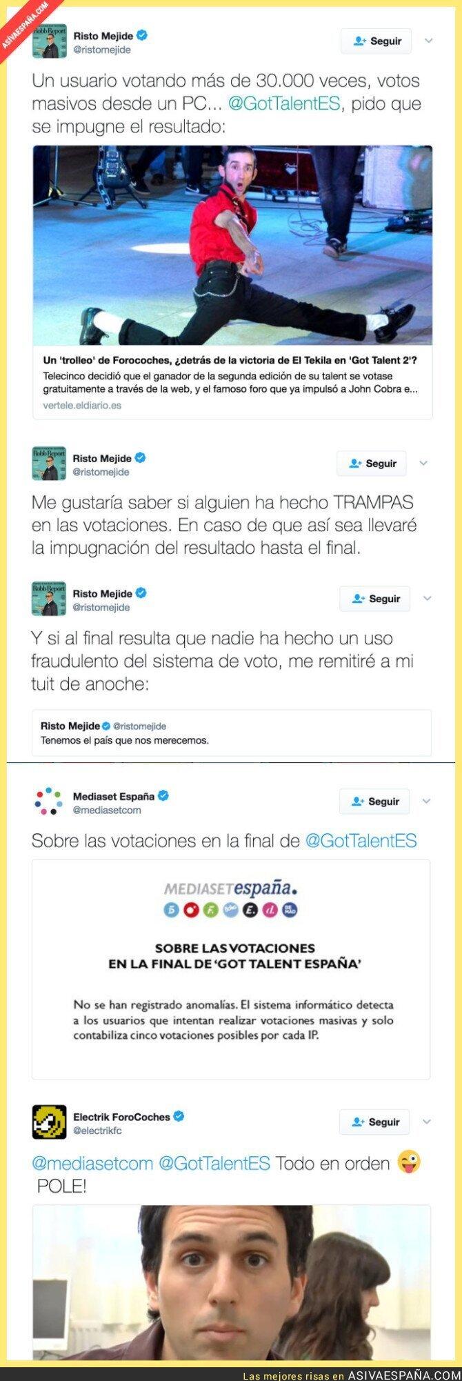 64994 - POLÉMICA MÁXIMA: Risto Mejide pide impugnar el ganador de Got Talent y Telecinco responde