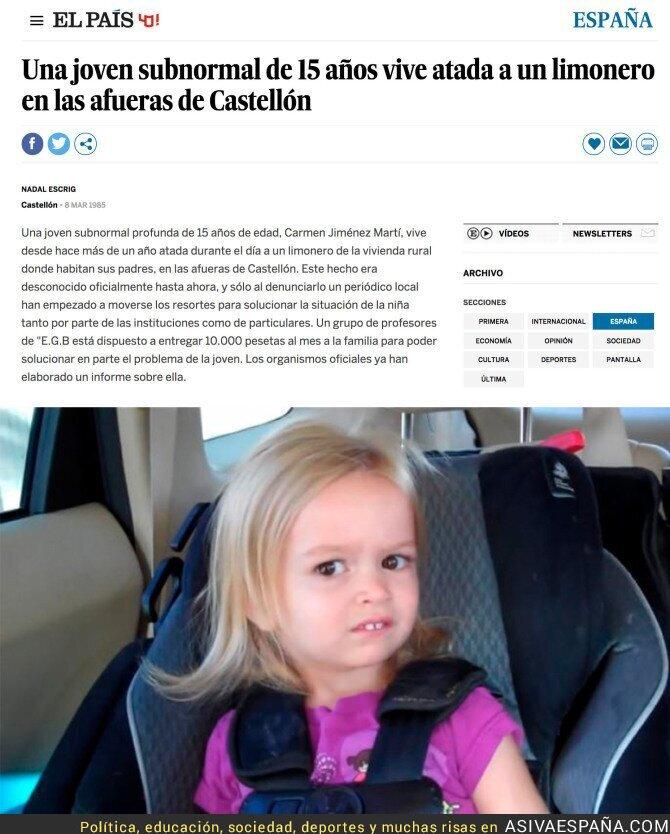 65032 - Así contaba El País una noticia de Castellón en 1985