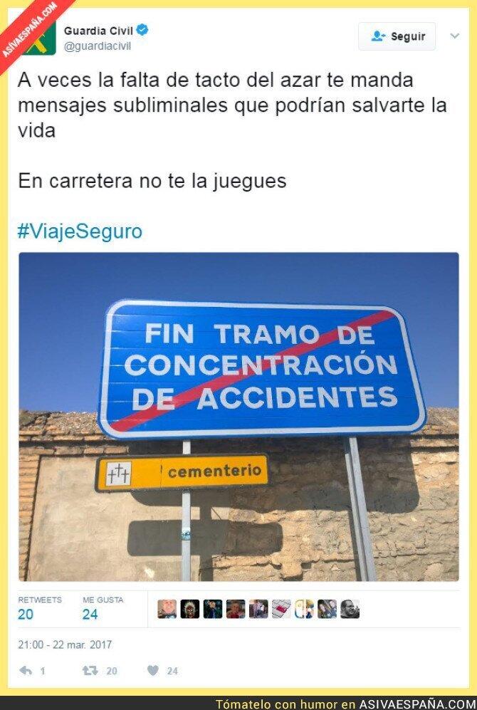 65038 - Advertencia de la DGT sobre el tráfico y los accidentes