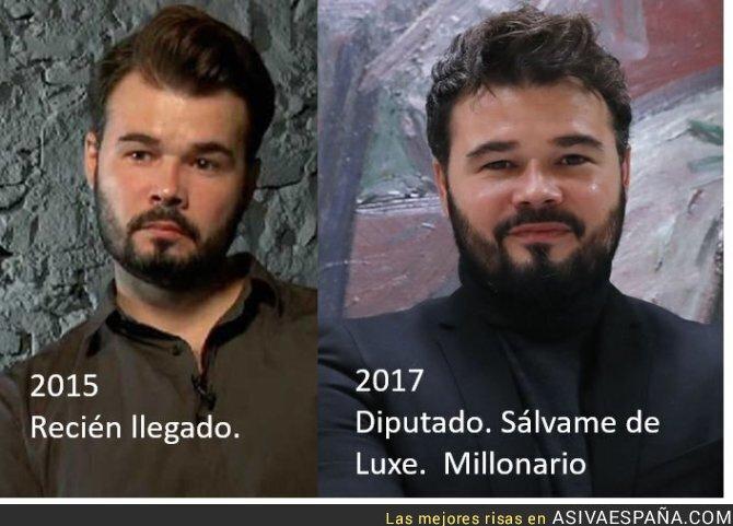 65407 - El cambio de Gabriel Rufián desde que se dedica a la política