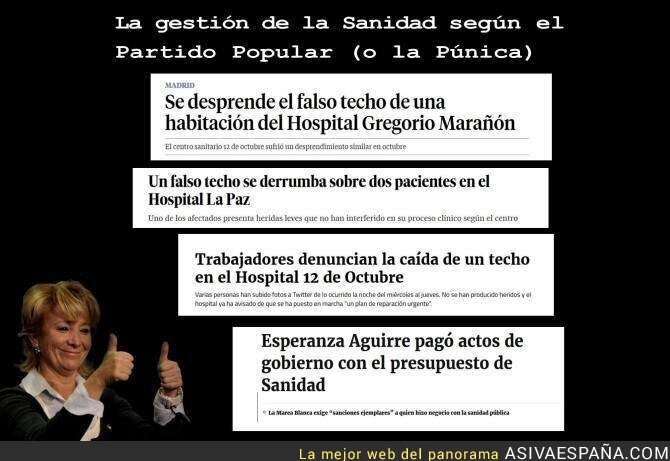 65463 - Todas estas noticias juntas sobre Sanidad y Esperanza Aguirre se entienden mucho mejor