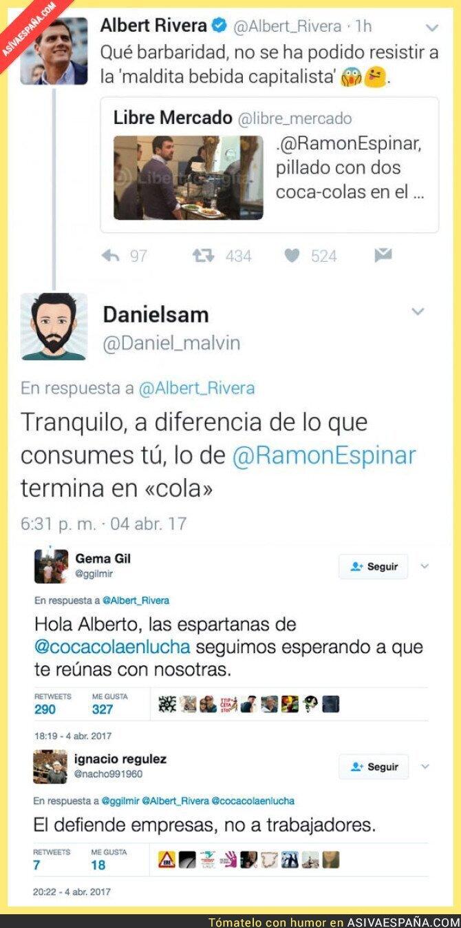 65809 - Albert Rivera reacciona ante la noticia de Ramón Espinar y le responden así por ir de gracioso