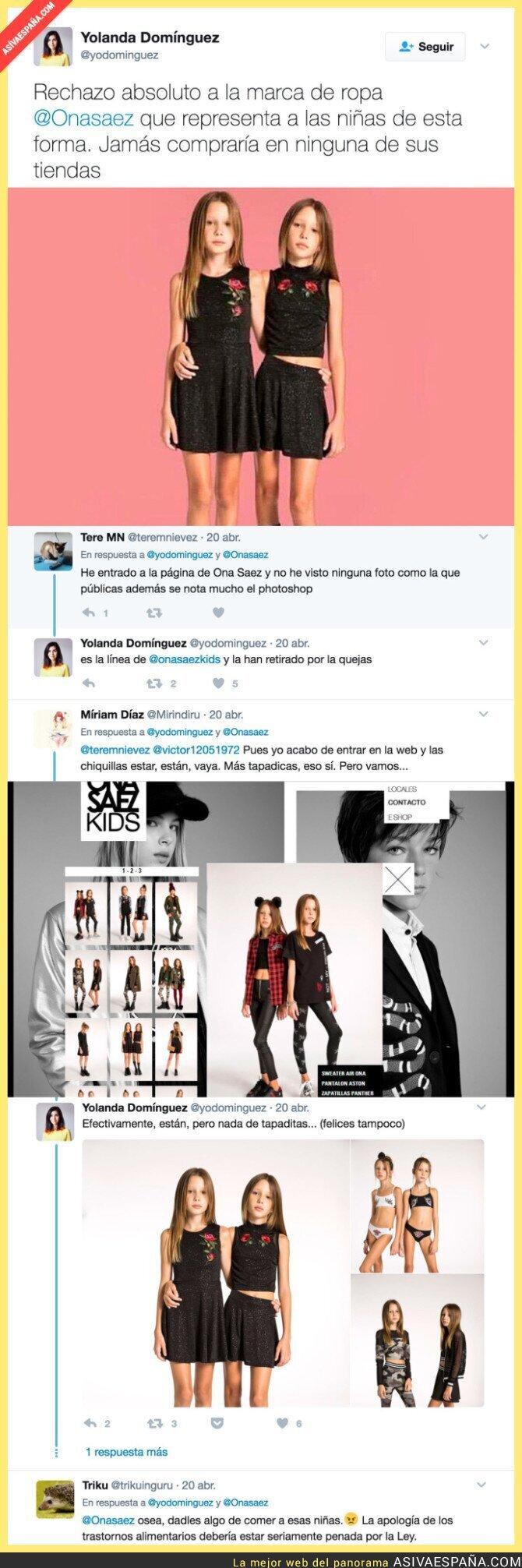 66760 - Lío máximo con la marca de ropa de Ona Saez por su publicidad con niñas fomentando la anorexia