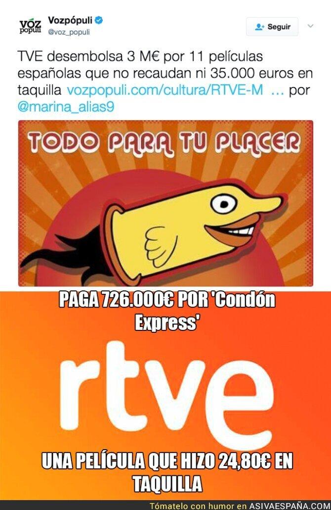 66854 - El despilfarro de TVE con películas españolas