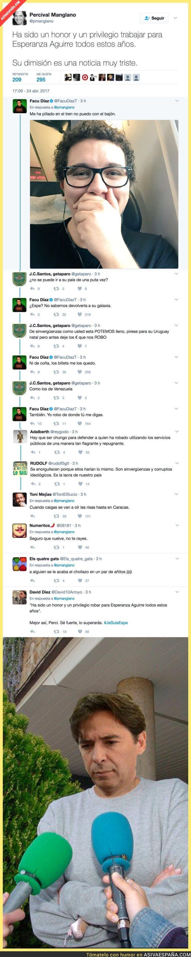 66899 - Cachondeo total en internet al ver la despedida de Percival Manglano a Esperanza Aguirre