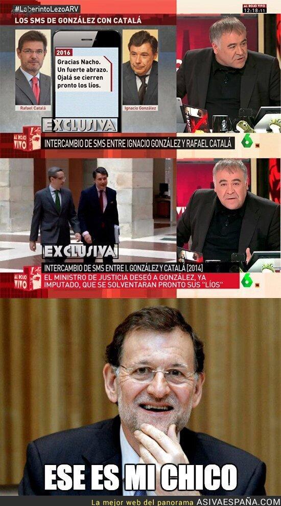 66916 - ESCÁNDALO: Rafael Catalá mandando SMS a Ignacio González