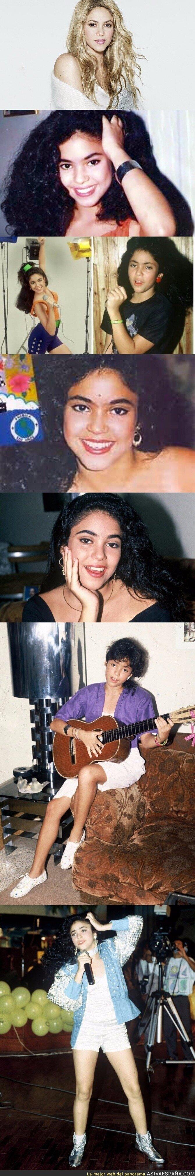 67313 - Las fotos del antes de Shakira que demuestra que se ha marcado un