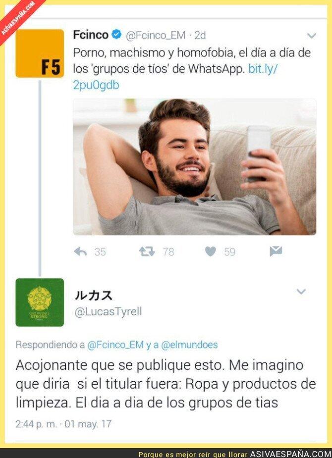 67344 - Respondiendo a la noticia sobre Grupos de tíos en WhatsApp