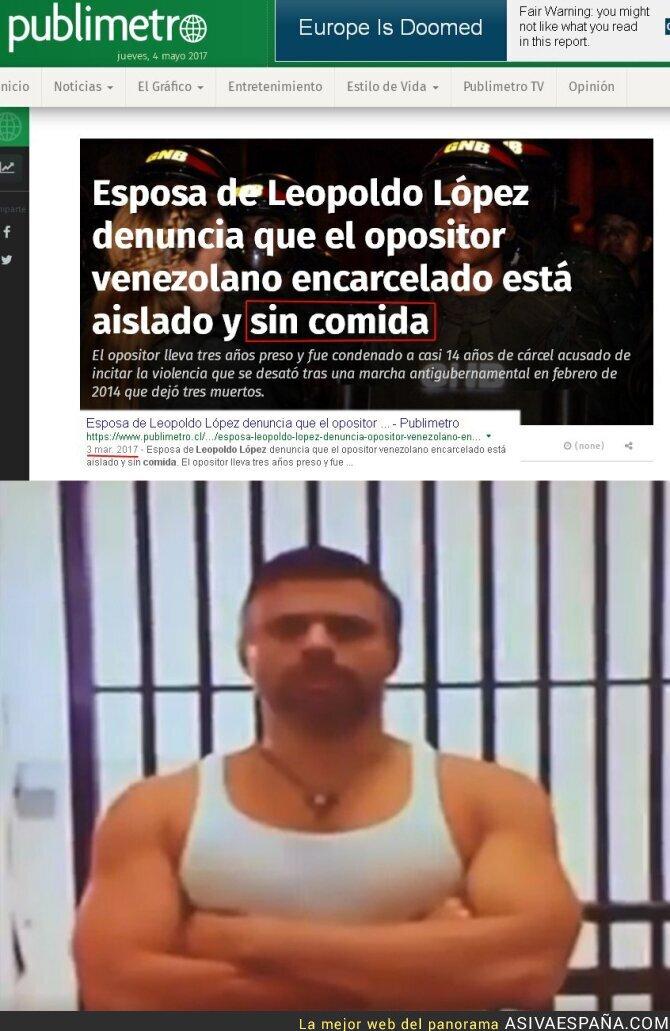 67477 - Lilian Tintori denunció que Leopoldo López no tenía comida en la cárcel y así está realmente
