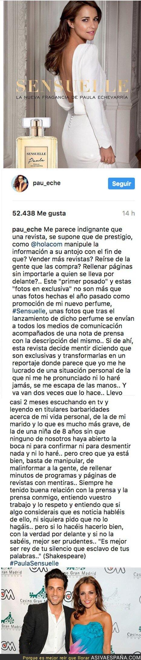 67807 - Rajada monumental de Paula Echevarría contra la prensa rosa por hablar mentiras de su familia