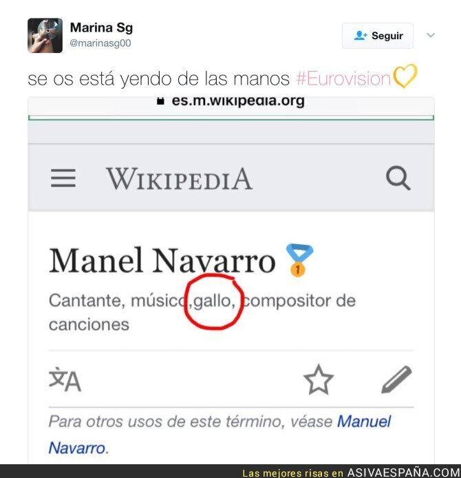 Así Va España Editan La Wikipedia De Manel Navarro Con Esta