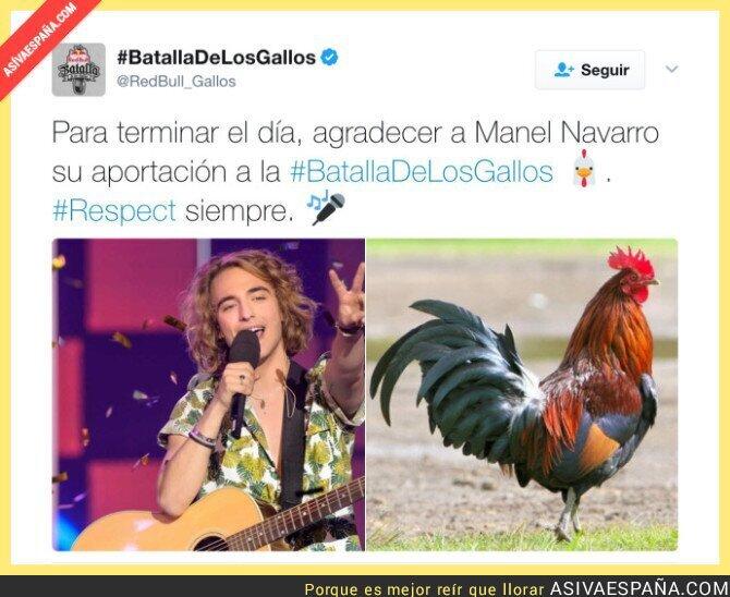 67990 - La cuenta oficial de Red Bull Batalla de los Gallos le dedica un tuit a Manel Navarro