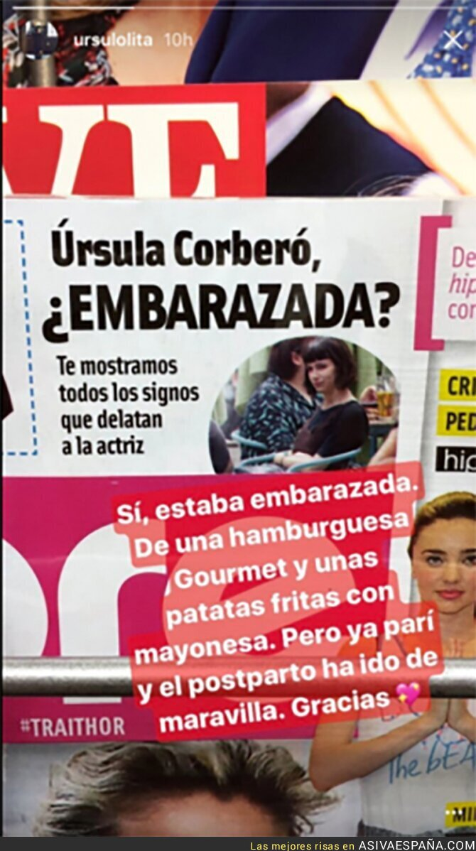 68107 - La genial respuesta de Úrsula Corberó a esta portada de la revista 'Cuore'