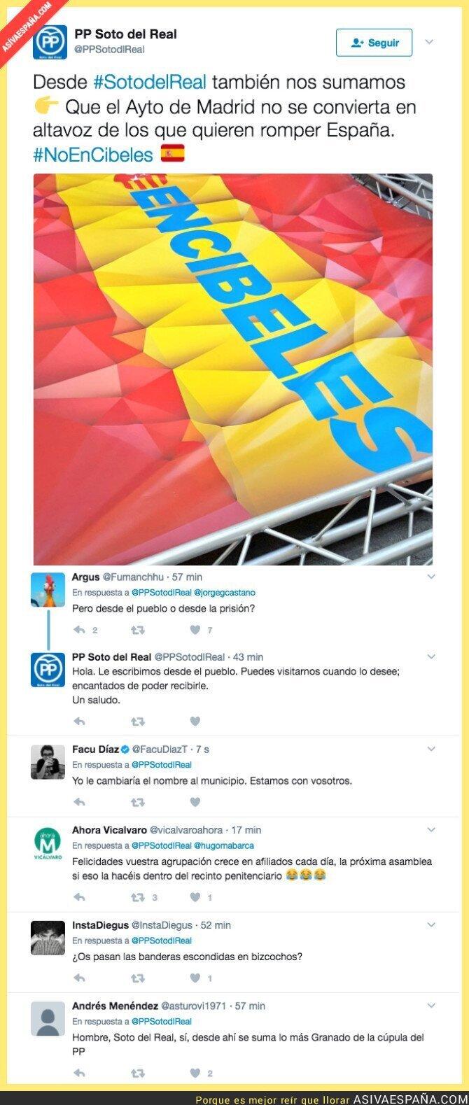 68282 - Cachondeo en Twitter después de este mensaje del PP de Soto del Real
