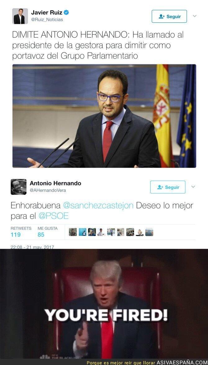 68400 - Dimite el traidor de Antonio Hernando