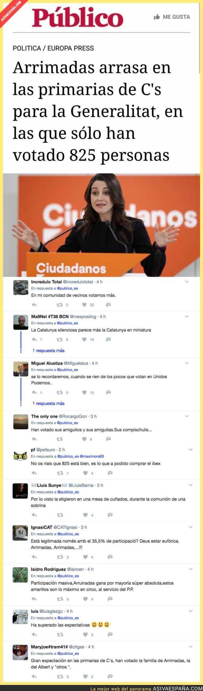 68697 - Ciudadanos y la nula participación de gente en sus primarias de Catalunya