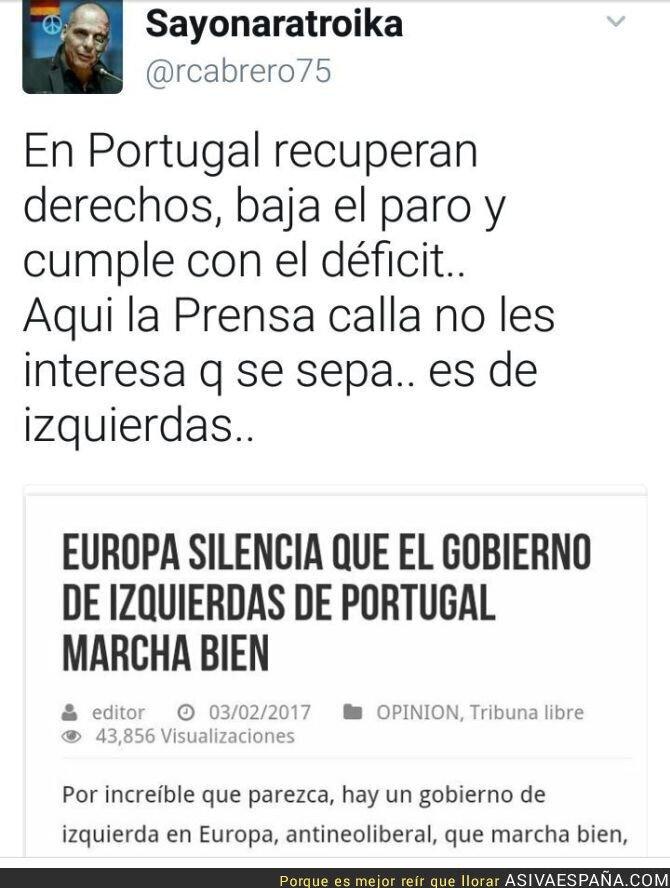 68836 - Gobierno de izquierdas, portugués silenciado