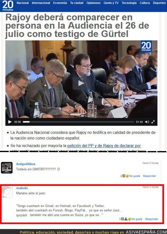 68924 - Rajoy cuando esté declarando delante del juez