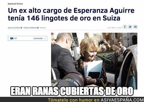 69012 - Los lingotes de oro de alguien que no conoce Esperanza Aguirre