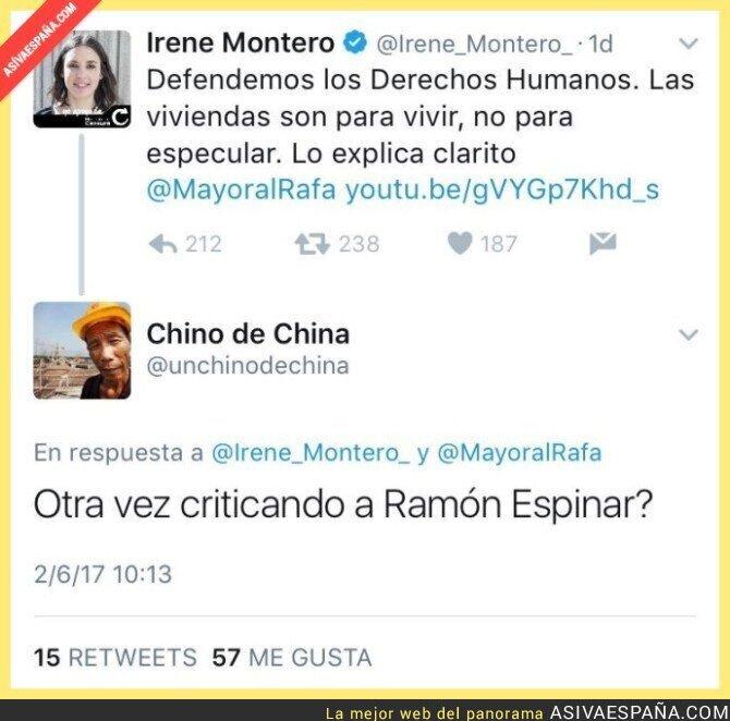69099 - Irene Montero le lanza un dardo envenenado a Ramón Espinar