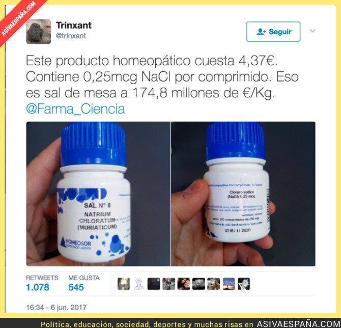 69327 - El sorprendente precio de este medicamento homeopático