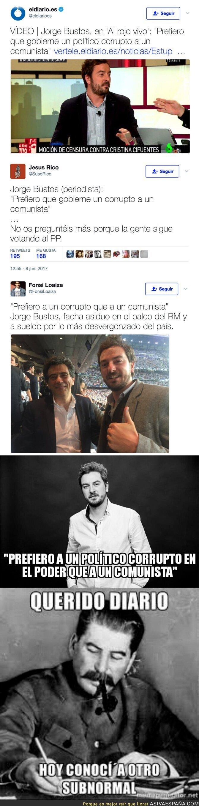 69444 - La polémica frase de Jorge Bustos, periodista de 'El Mundo'