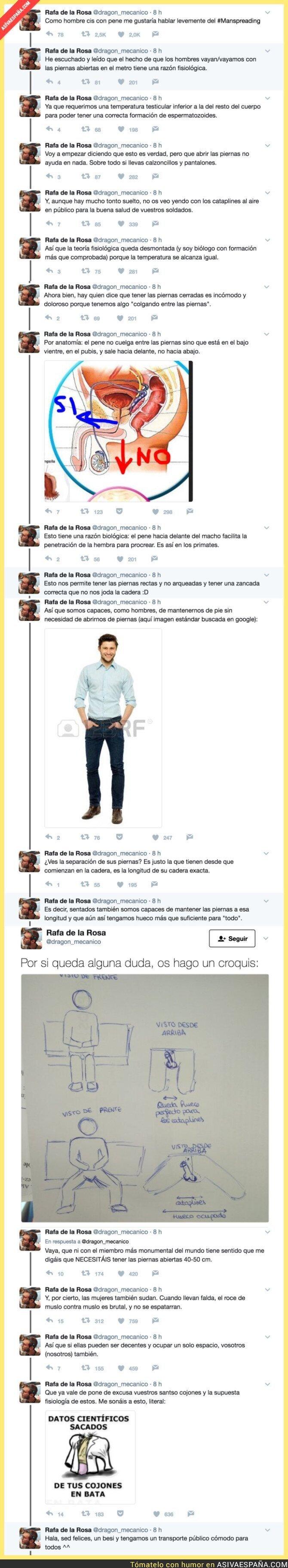 69447 - La mejor forma de explicar el 'manspreading' o 'espatarre masculino' que ha revolucionado Twitter