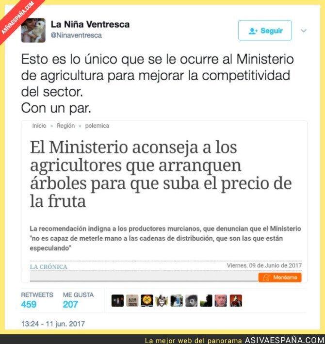 69772 - En el Ministerio de Agricultura son unos genios