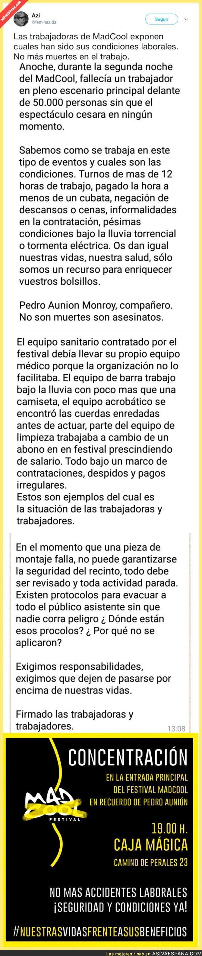 71291 - La terrible situación laboral en el MadCool Festival