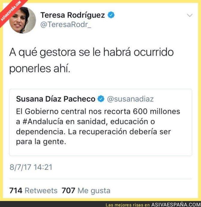 71321 - Susana Díaz está tan confusa que se hiere a si misma