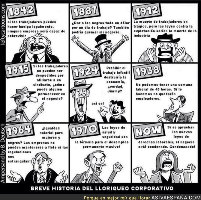 71338 - Breve historia del lloriqueo corporativo