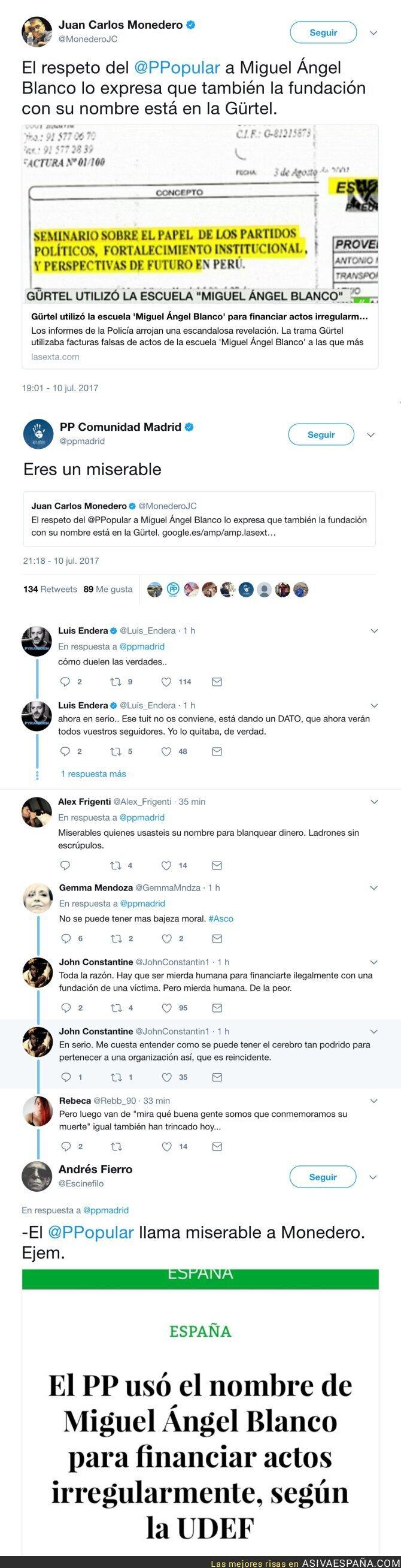 71380 - El insulto del PP de Madrid a Monedero por recordar lo que hacían con Miguel Ángel Blanco