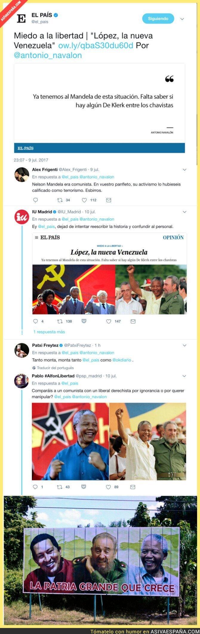 71411 - 'El País' intenta borrar de la historia que Mandela fue comunista