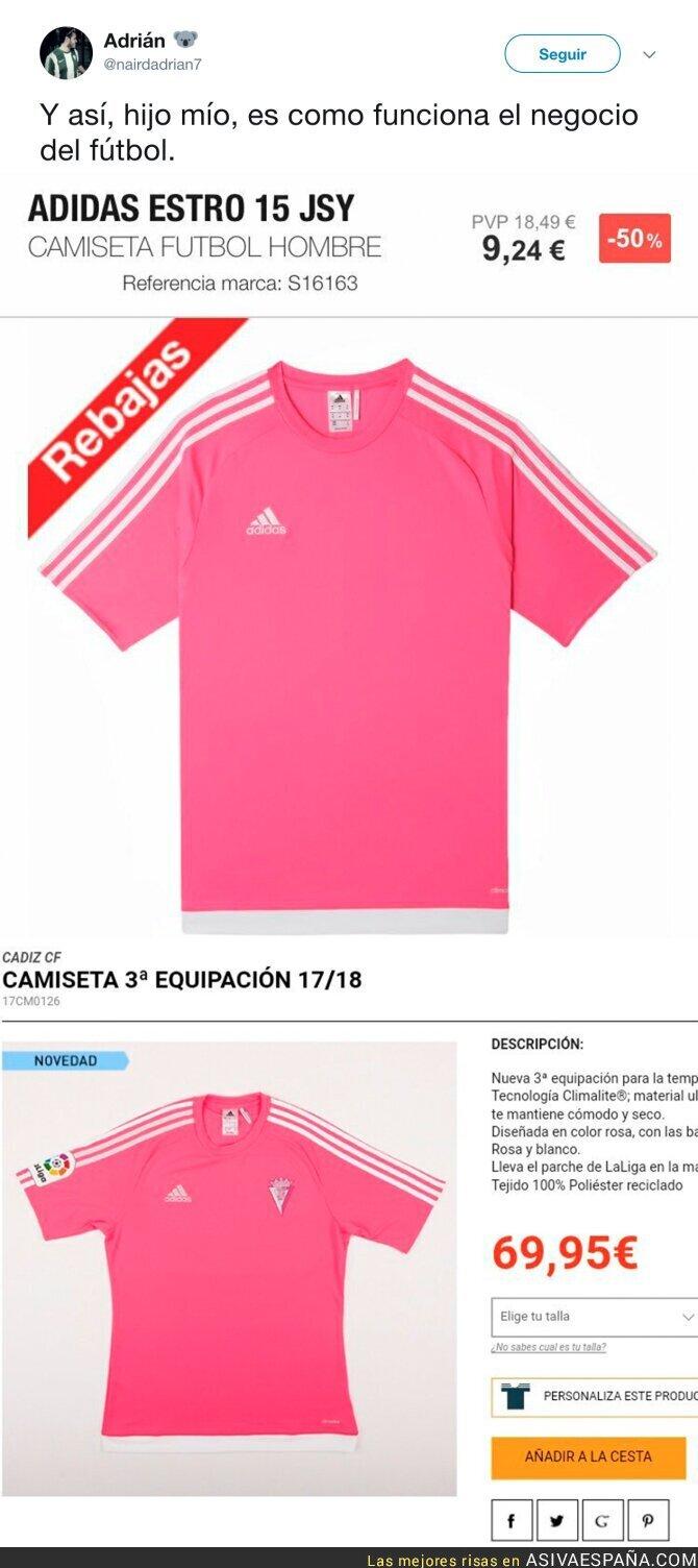 71506 - Así cambia el precio de una camiseta de fútbol cuando le añades el escudo del equipo