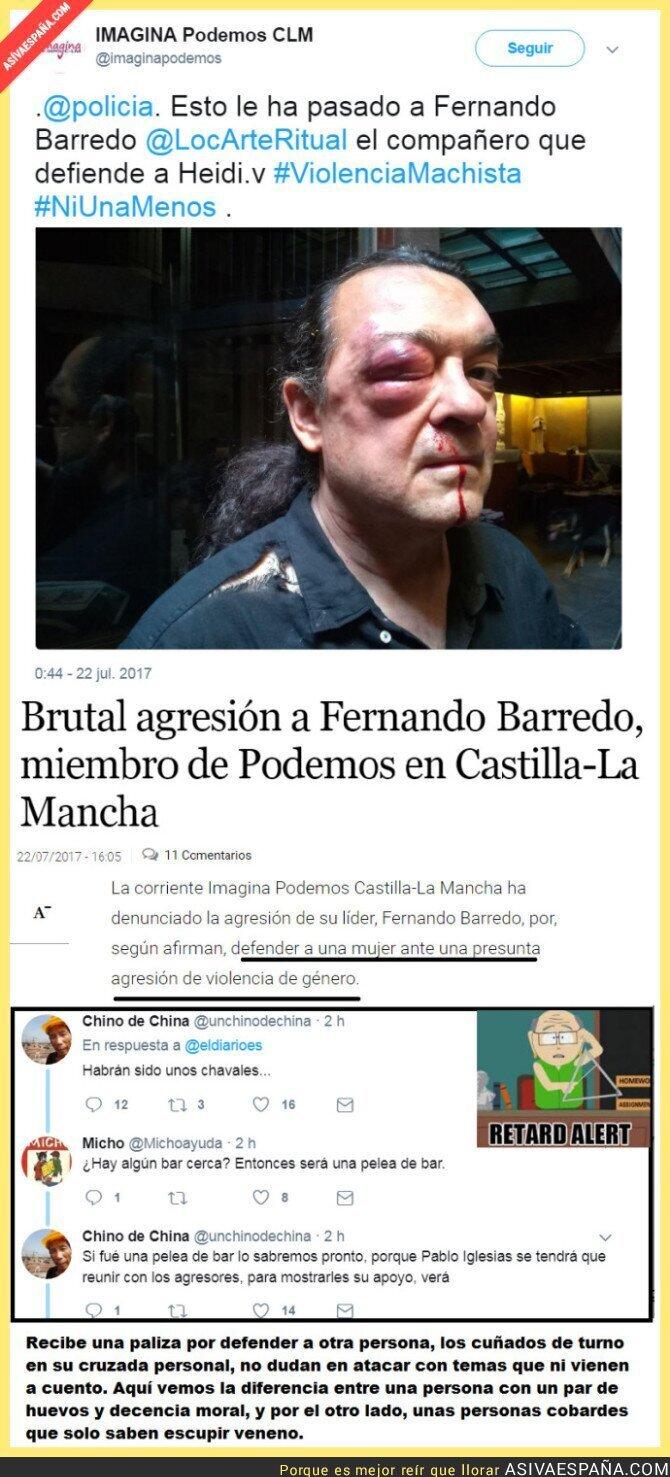 71996 - Miembro de Podemos recibe una paliza por defender a una mujer, y así saltan los cuñados