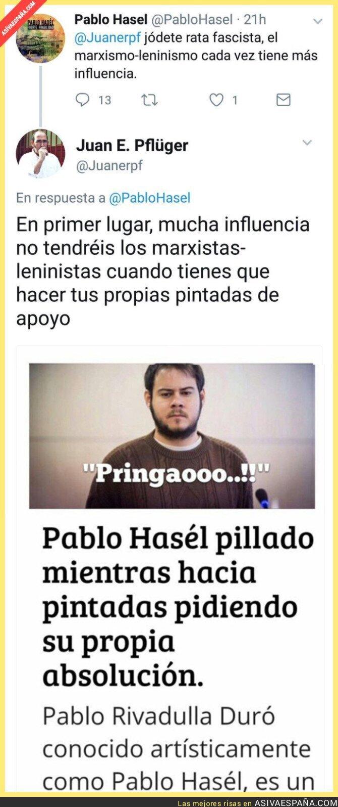72006 - El gran ZASCA a Pablo Hasel tras hablar de la gran influencia del marxismo leninismo