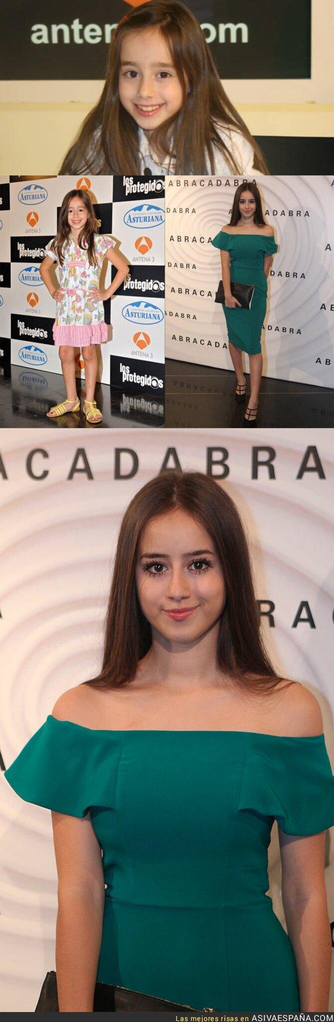 72223 - El increíble cambio físico de Priscila Delgado, la niña que salía en 'Los Protegidos'