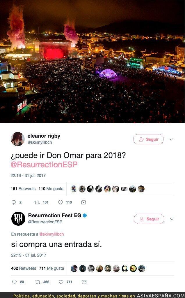 72517 - La gran respuesta de los organizadores del Resurrection Fest cuando le preguntan si acudirá Don Omar