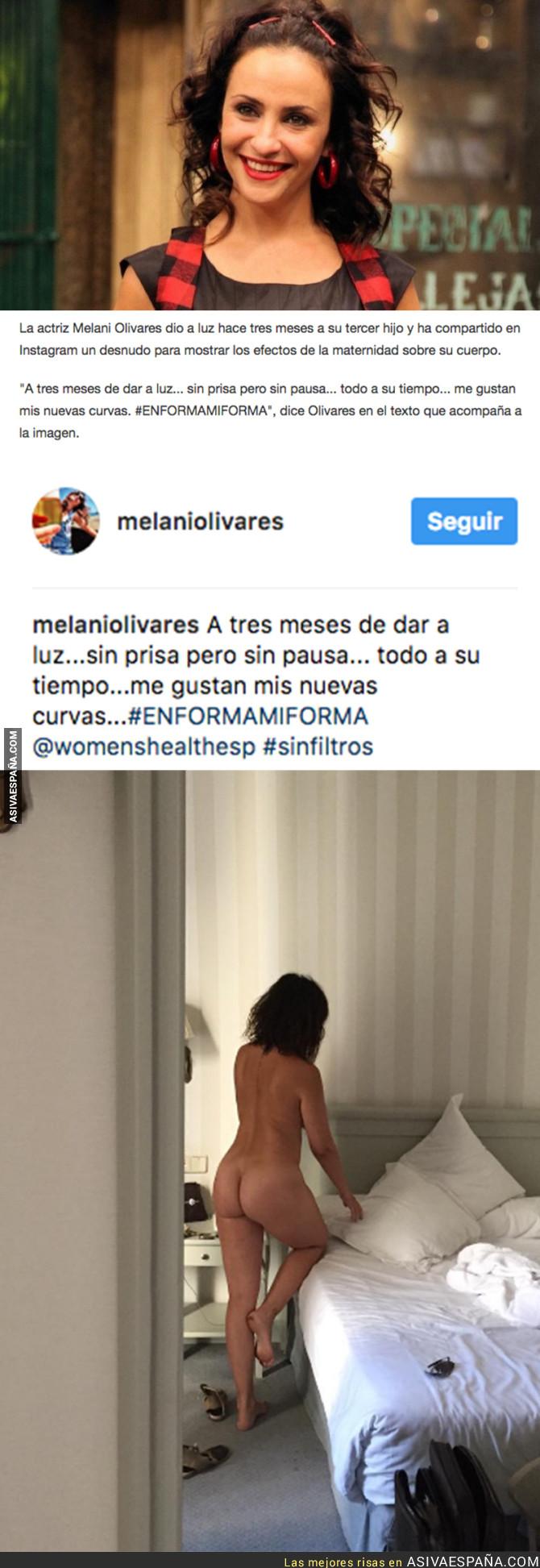72623 - La actriz Melanie Olivares sorprende en Instagram posando totalmente desnuda tras ser madre