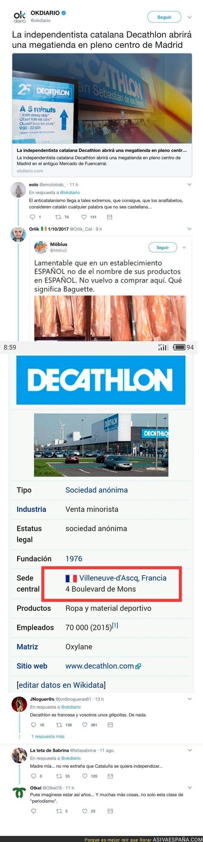 73041 - OKDiario la lía a lo grande con esta noticia sobre la nueva tienda de Decathlon en Madrid