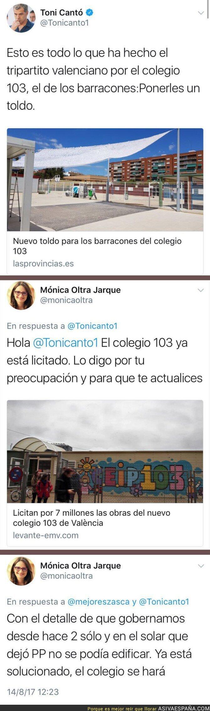 73103 - Toni Cantó recibe un ZASCA de Mónica Oltra por este colegio en Valencia