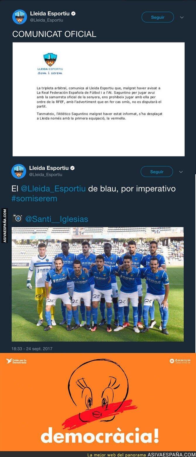75518 - LaLiga prohíbe al Lleida vestir la equipación con la senyera