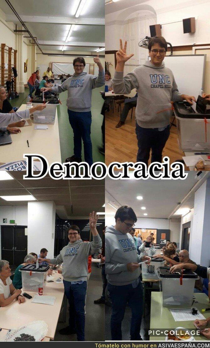 76017 - ¡Porque soy MUY demócrata, yo voto CUATRO veces, ea!