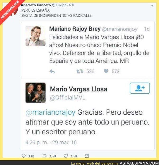 76670 - Mario Vargas Llosa responde al fail de Rajoy