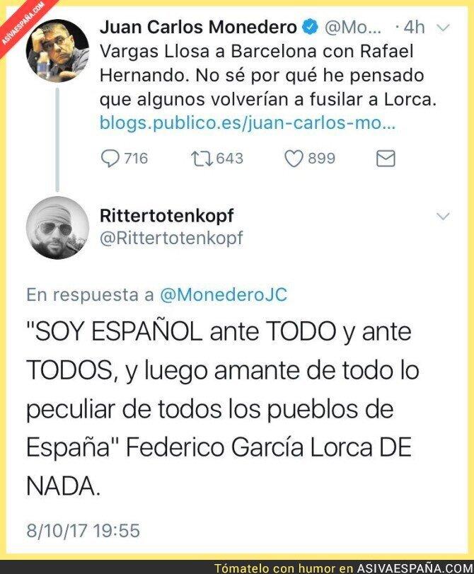 76730 - Una gran respuesta a Monedero usando una frase de Federico García Lorca