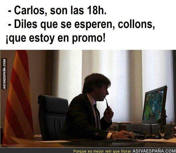 76907 - El motivo del retraso de Puigdemont