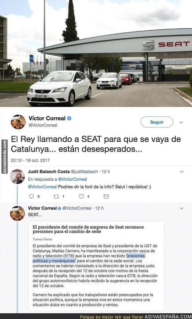 77365 - La SEAT denuncia presiones de altas esferas para irse de Catalunya
