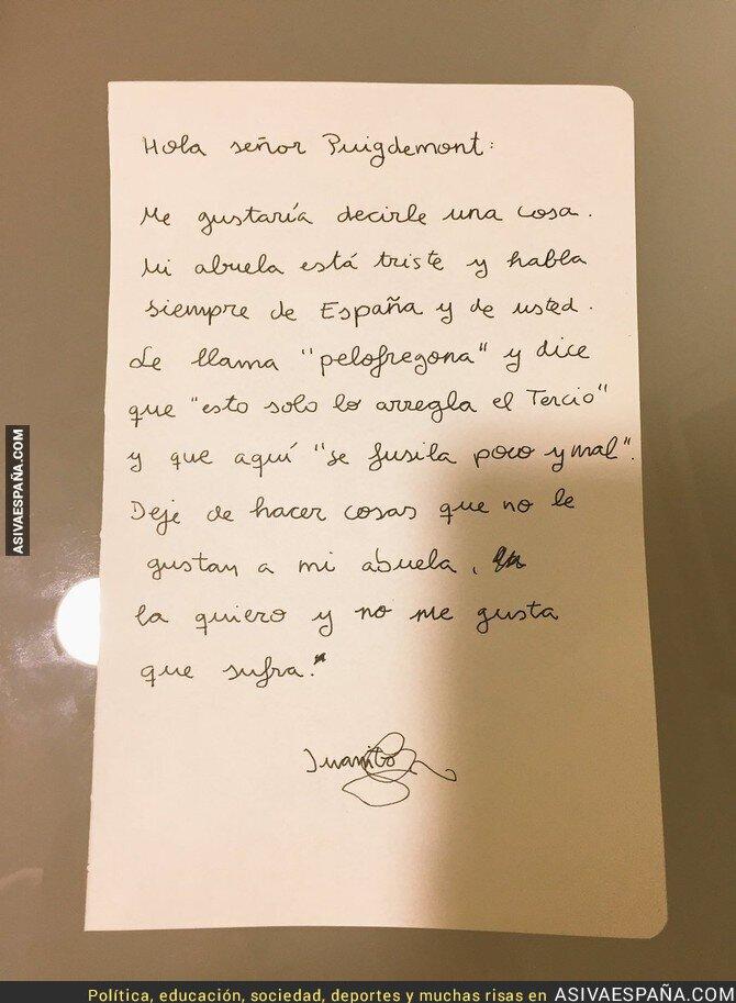 77451 - La carta de un niño de 11 años a Puigdemont